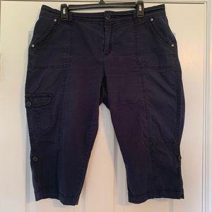 Navy Blue Capri Pants size 16